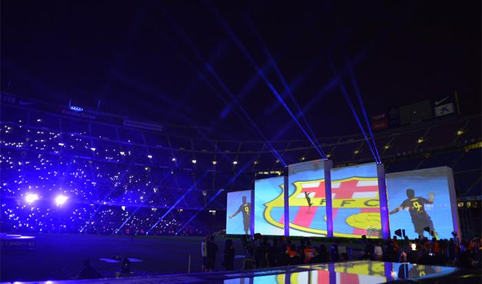 Ceremonia de celebración del segundo Triplete del FCBarcelona