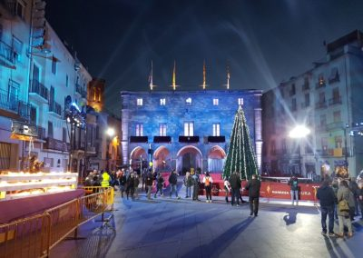 Iluminación del evento en la Cabalgata de los Reyes Magos TV3, 2018