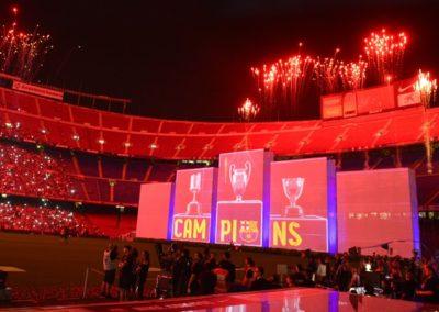 Celebración del segundo Triplete del FCBarcelona, 2015