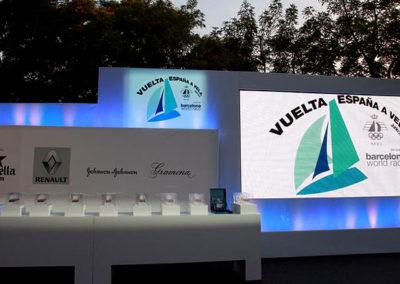 Ceremonia premios Vuelta a España en Vela