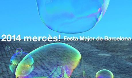 Arcoiris ilumina La Mercè 2014