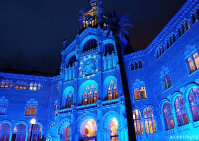 Iluminación de la fachada de Sant Pau, 2017