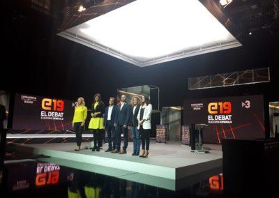 E19, el Debat eleccions generals de TV3, 2019